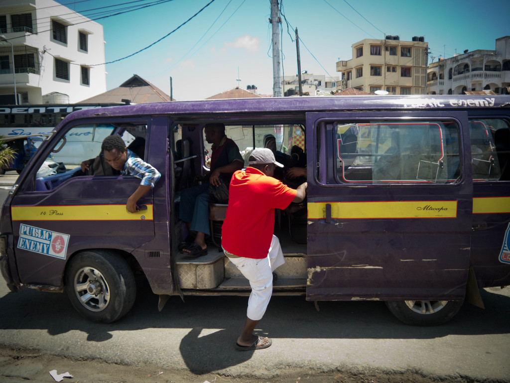 getting on a matatu